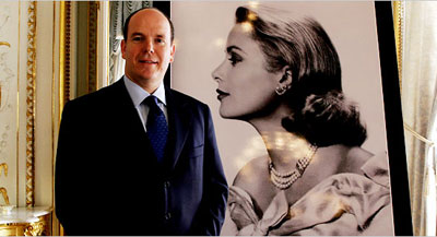 Prince Albert with Grace Kelly Portrait