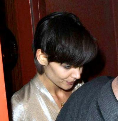 Katie Holmes really short haircut