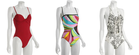 Swim Suits by Red Carter, Gottex, Roberto Cavalli