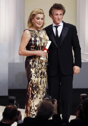 Catherine Deneuve and Sean Penn