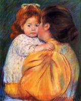 Mary Cassat - Maternal Kiss