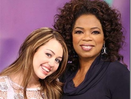 Miley Cyrus and Oprah Winfrey