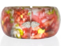 Alexis Bittar Floral Lucite Bangle
