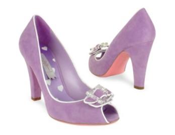 Mario Bologna Suede Lilac Pumps
