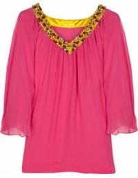 Catherine Malandrino Ipanema beaded blouse
