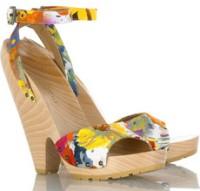 Stella McCartney Floral Wedge Sandals