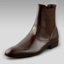 Salvatore Ferragamo Patent Boot for Men