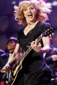 Madonna Playing Guitar