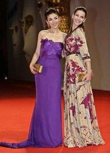 Actresses Huang Yi and Taina Muller