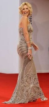 Charlize Theron on the red carpet in Venice