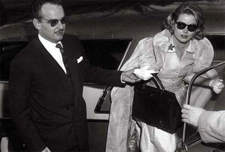 Princess Grace with her Kelly bag