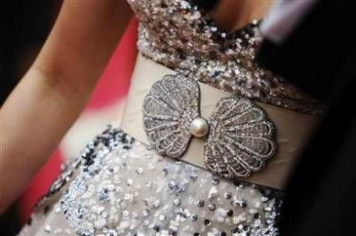 Detail of Miley Cyrus Oscar dress