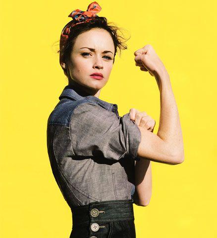 Alexis Bledel as Rosie the Riveter