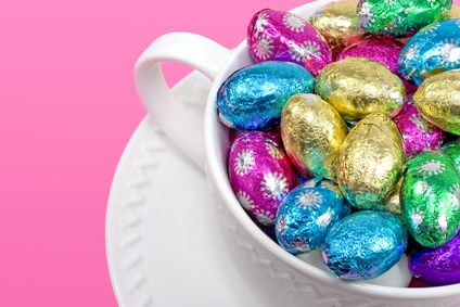 Easter Cup of chocolate candies.