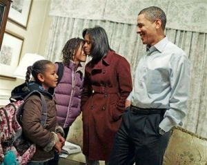 Obama Family Moment