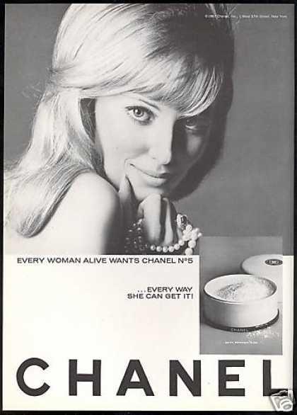 Vintage 1960s Chanel No. 5 ad