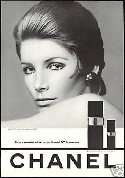 Vintage 1960s Chanel No. 5 ad