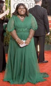 Gabourey Sidibe at the 2010 Golden Globe Awards