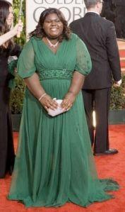 Gabourey Sidibe at the 2010 Golden Globe Awards