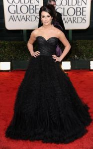 Glee's Lea Michele at the 2010 Golden Globe Awards