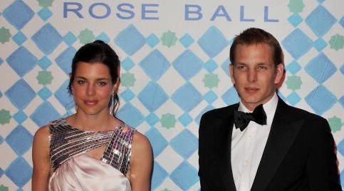 Charlotte and Andrea Casiraghi at the 2010 Rose Ball in Monaco