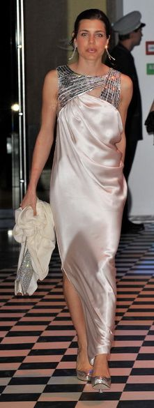 Charlotte Casiraghi arriving at the 2010 Rose Ball in Monaco