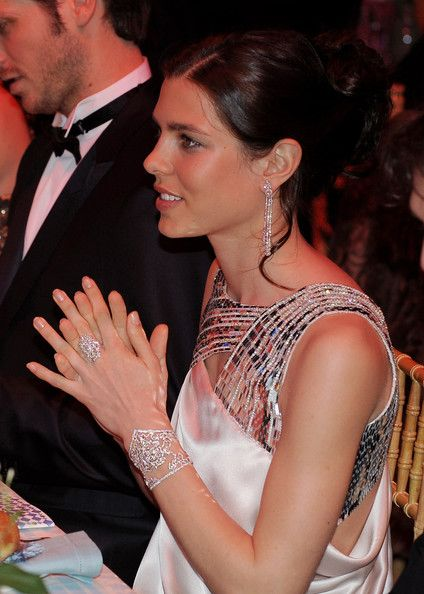 Charlotte Casiraghi's jewelry at the 2010 Rose Ball in Monaco