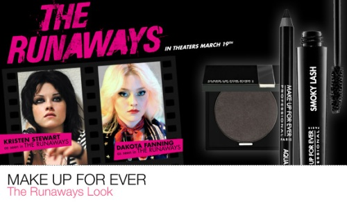 Make Up For Ever The Runaways Collection