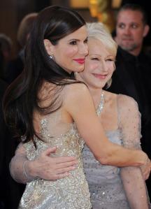 Sandra Bullock and Helen Mirren at the 2010 Academy Awards
