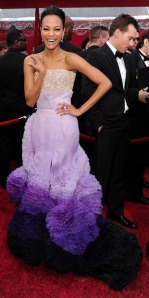 Zoe Saldana at the 2010 Oscars